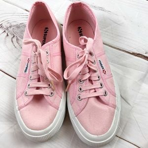 SUPERGA pink tennis shoes women's 9 or men's 7.5